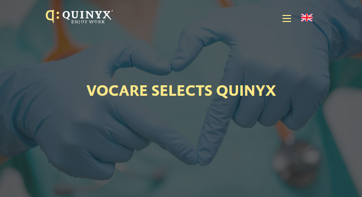 Vocare selects Quinyx